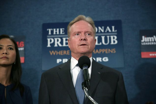 Former Sen. Jim Webb. (Photo by Alex Wong for Getty Images)