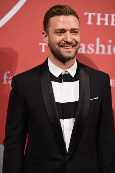 Justin Timberlake on the carpet (Photo: Getty Images).