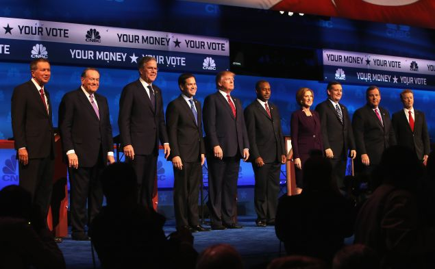 The contenders. (Photo: Justin Sullivan for Getty Images)