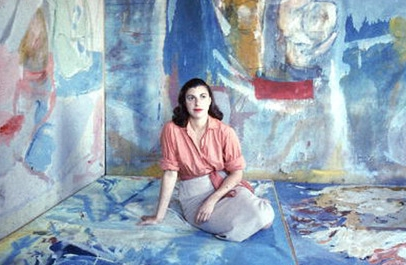 Abstract expressionist artist Helen Frankenthaler, pictured above in 1956.