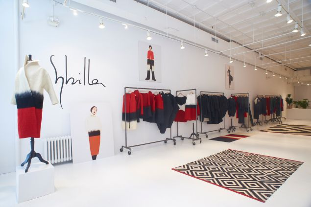 Inside the Sybilla pop-up space (Photo: Courtesy Sybilla).