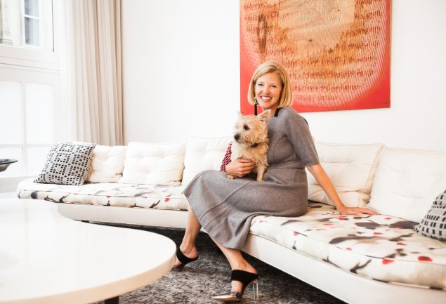 Lela Rose in her Tribeca home. (Photo: Emily Assiran for Observer)
