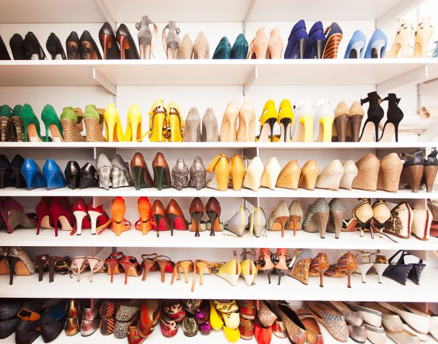 An enviable shoe collection. (Photo: Emily Assiran for Observer)