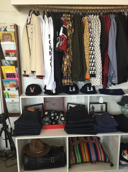 A rack of clothing at Virgil Normal (Photo: Dena Silver).