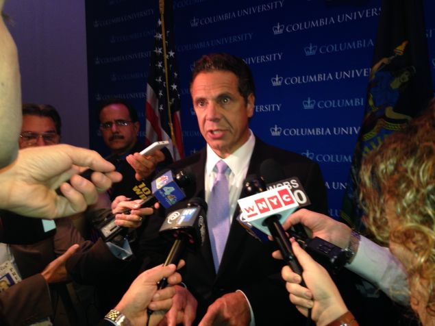 Gov. Andrew Cuomo today (Photo: Will Bredderman for Observer).
