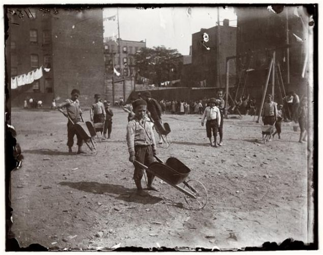 Jacob A. Riis, Children's Playground, Poverty Gap,1892. Courtesy Museum of the City of New York, Gift of Roger William Riis
