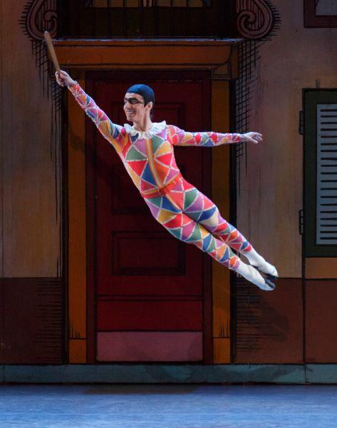 Joaquin de Luz in Geroge Balanchine's Harlequinade. (Photo: © The George Balanchine Trust, New York City Ballet. Photo by Paul Kolnik)