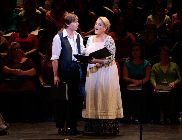 Deborah Voigt and Hunter Parrish in The Pirates of Penzance. (Photo: Erin Baiano)