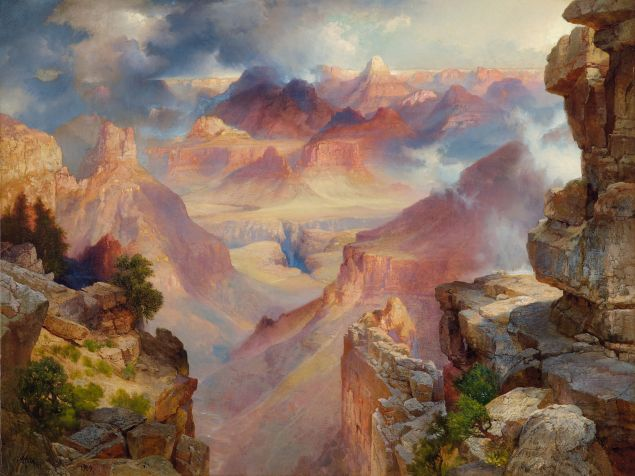 Thomas Moran, Grand Canyon of Arizona at Sunset, 1909. (Photo: Portland Art Museum)