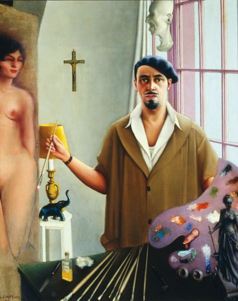 Archibald J. Motley Jr., Self-Portrait (Myself at Work), 1933. (Photo: Courtesy of the Chicago History Museum, Chicago, Illinois © Valerie Gerrard Browne)