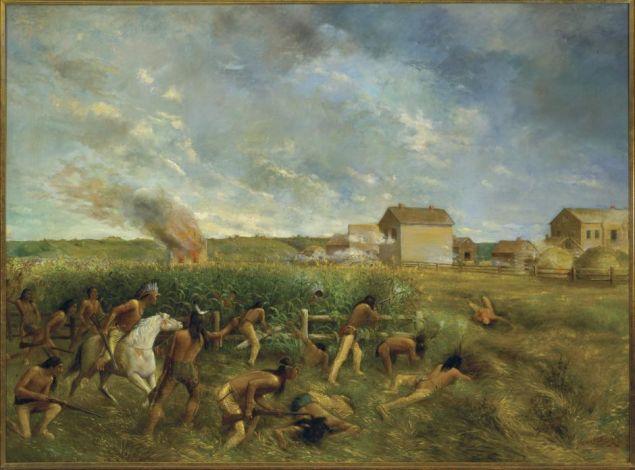 Attack on New Ulm, Anton Gag, 1904.