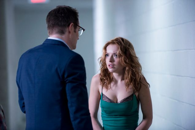 "HEROES REBORN -- ""Under the Mask"" Episode 103 -- Pictured: (l-r) Jack Coleman as HRG, Francesca Eastwood as Molly -- (Photo by: Christos Kalohoridis/NBC)"