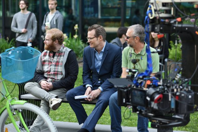 "HEROES REBORN -- ""The Lion's Den"" Episode 105 -- Pictured: (l-r) Henry Zebrowski as Quentin Frady, Jack Coleman as HRG -- (Photo by: John Medland/NBC)"