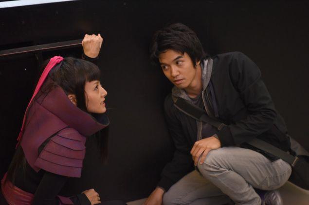 Kiki Sukezane as Miko Otomo and Toru Uchikado as Ren Shimosawa. (Photo: John Medland/NBC)