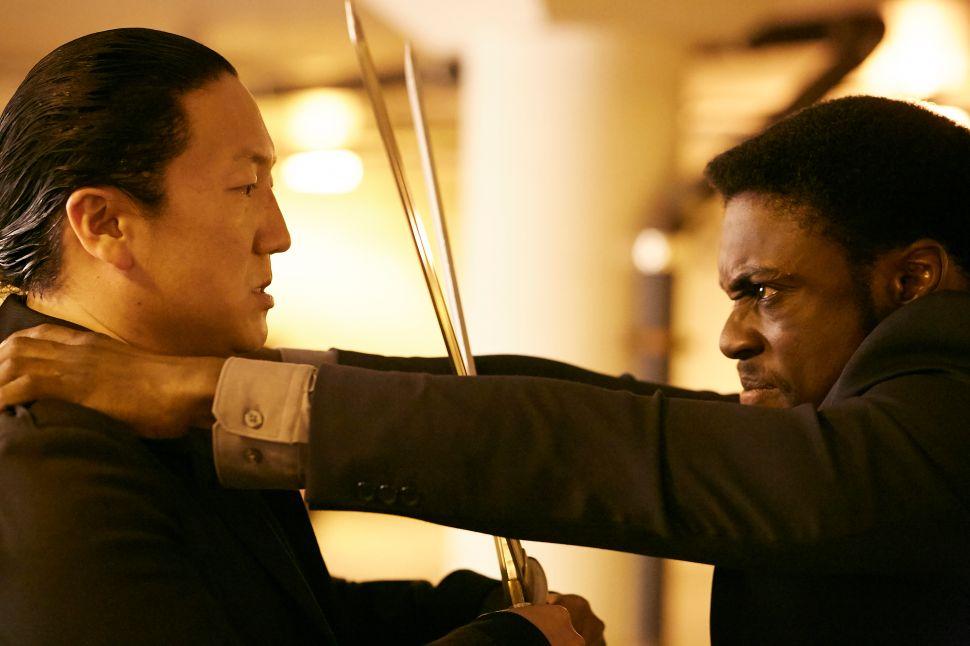 Hiro Nakamura vs. a Harris clone. (Photo: Sophie Giraud/NBC)