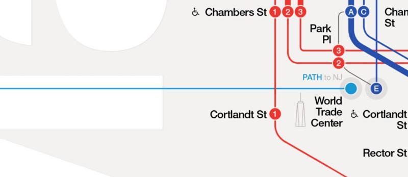 PATH station in Lower Manhattan.