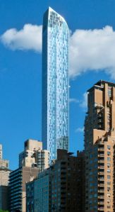 The poster child of luxury condos, One57. (Extell Development)
