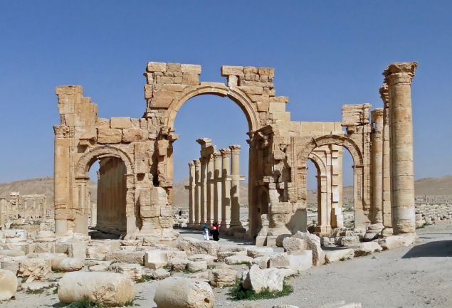 The Arch of Triumph in Palmyra.