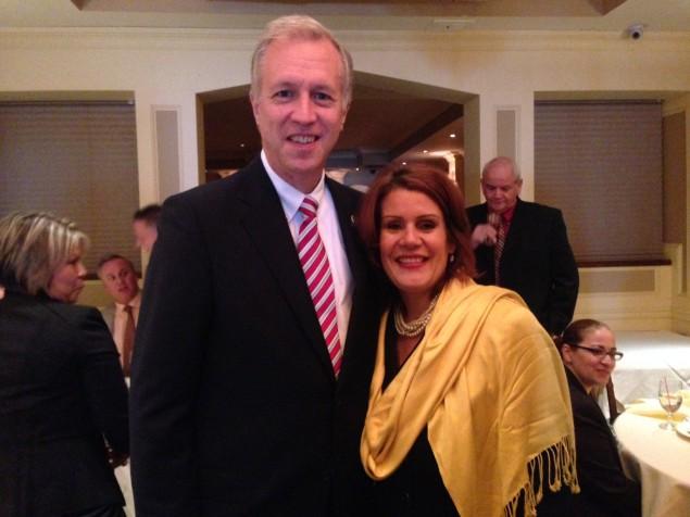 Assemblyman John Wisniewski and Mayor Wilda Diaz.