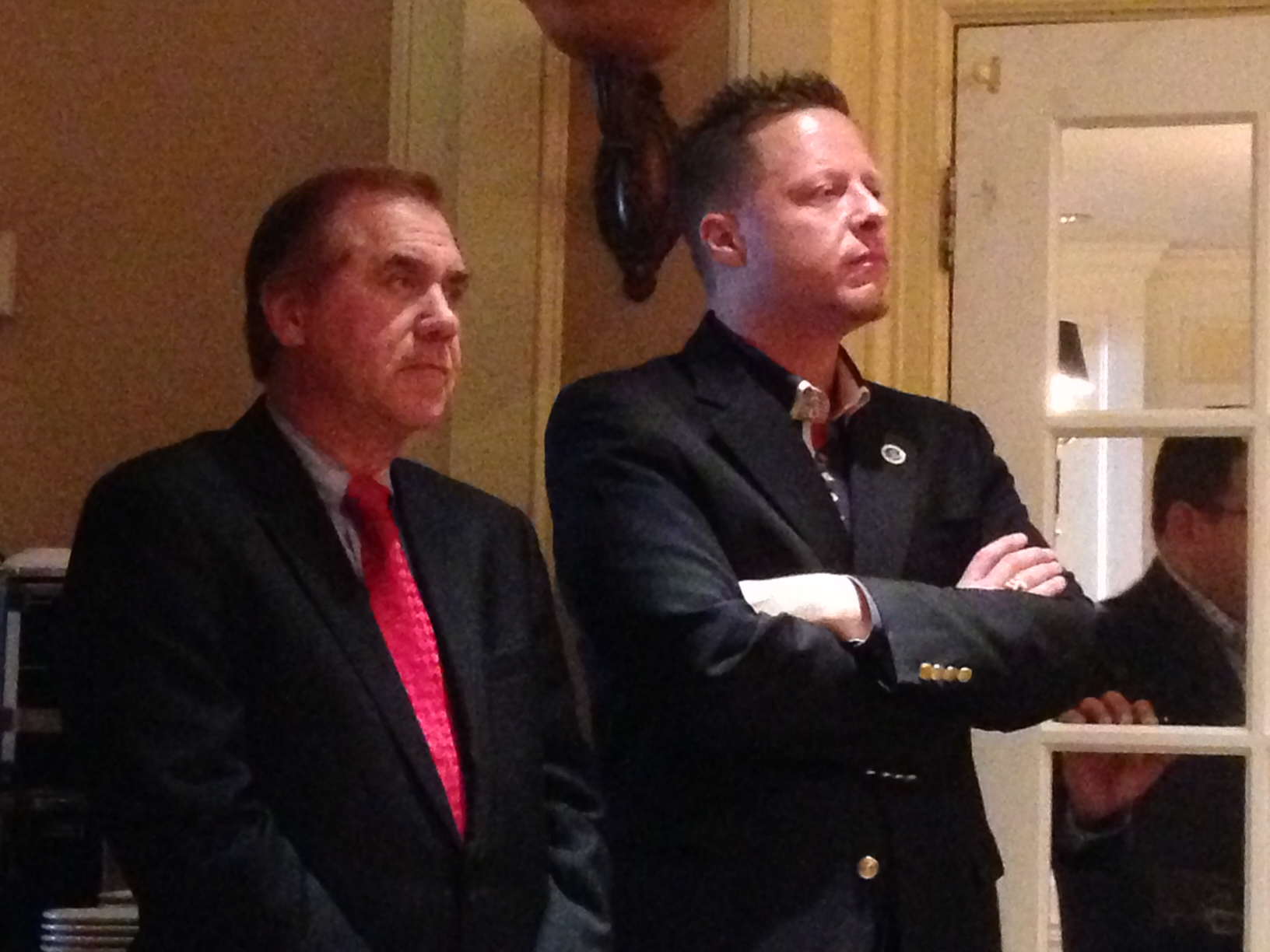 Assemblyman Craig Coughlin (left) and Mayor Dan Reiman.