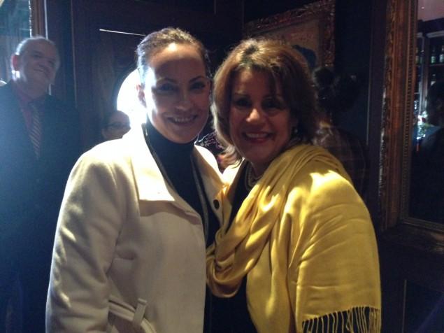 Julie Diaz of SEIU 32BJ and Mayor Wilda Diaz.