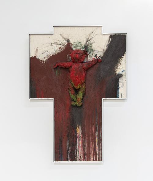 Der gekreuzigte Bar (Bear on the Cross), 1985-1987, by Arnauf Ranier. (Photo: Courtesy of Mana Contemporary)