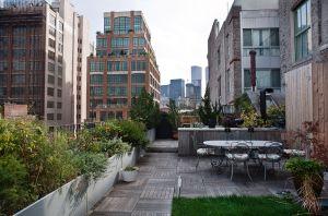 Rooftop garden, Tribeca. Photo: Celeste Sloman for Observer