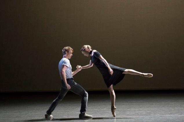 Sara Mearns and Adrian Danchig-Waring in Kim Brandstrup's Jeux. (Photo: Courtesy New York City Ballet, by Paul Kolnik)