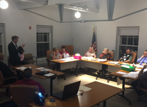 Members of the General Majority PAC at an Atlantic County Board of Elections meeting last month