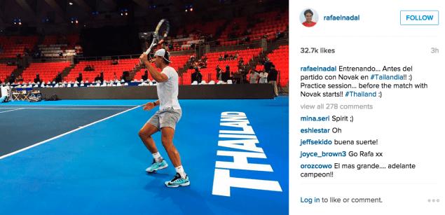 Rafael Nadal hit the courts. (Photo: Instagram/Rafael Nadal)