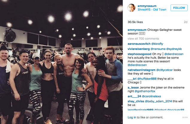 Emmy Rossum at Shred415. (Photo: Instagram/Emmy Rossum)