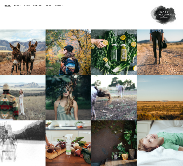 Zimmerman uses Squarespace to build and host her website.
