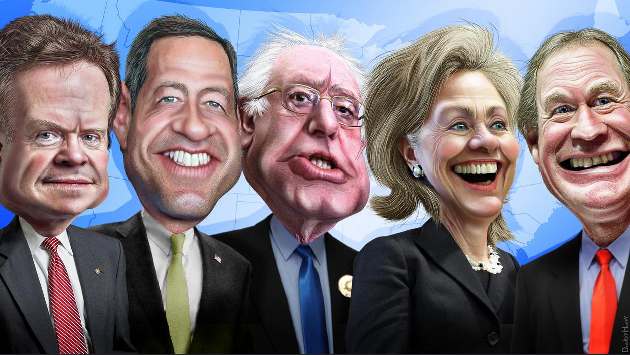 The Democratic candidates (Photo: Flickr/Donkey Hotey)