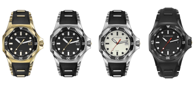 The four new watch styles (Photo: Courtesy Givenchy).