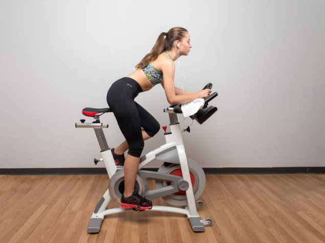 CycleCast lets users access spin classes from a stationary bike anywhere in the world. (Photo: Facebook/CycleCast)