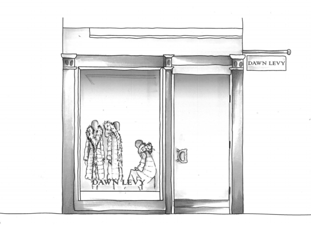 A rendering of the Dawn Levy pop-up shop (Photo: Courtesy Dawn Levy).