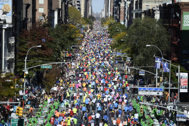 Dressing for any marathon can be a tricky matter. (Photo: Facebook/TCS New York City Marathon)