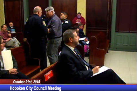 Belfiore was the first ejected from the meeting.