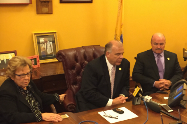 Weinberg, Sweeney and Prieto following Thursday's Senate session