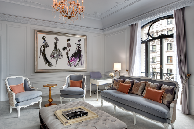 The Dior Suite at the St. Regis, New York (Photo: Bruce Buck).