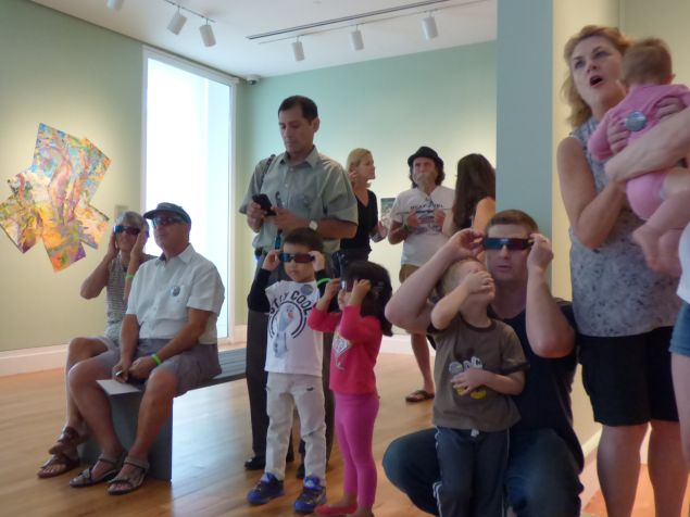 Visitors take in a 3-D movie in one of Building A's new galleries (Photo: Staten Island Museum)
