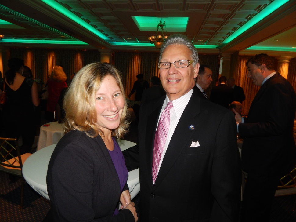 Stellato, right, with Jenny Davis.