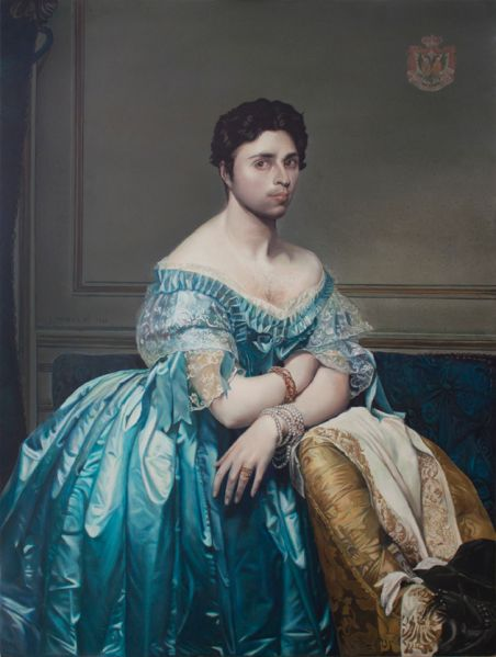 Taner Ceylan Ingres, 2015 oil on canvas 47 5/8 x 35 7/8 in 121 x 91.1 cm (PK 20952A) Courtesy of the artist and Paul Kasmin Gallery
