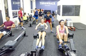 Rowers at Throwback Fitness. (Photo: Courtesy Throwback Fitness)