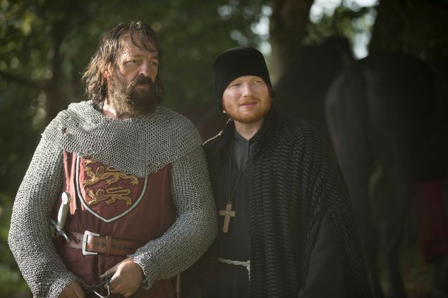 """""""Thorns/Drain"""" Episode 6 (Airs Tuesday, October 13, 10:00 pm/ep) Pictured: (l-r) Francis Magee as Absolon, Ed Sheeran as Cormac. CR: Ollie Upton/FX"""