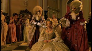 """""""The Girl in the Fireplace"""": A Steven Moffat masterpiece, veering between the 51st century and the Paris of the beautiful Madame de Pompadour. Set during the time of Louis XV, this episode has beautiful costumes, sets, and it's romantic as well. One of Mr. Moffat's greatest triumphs."""