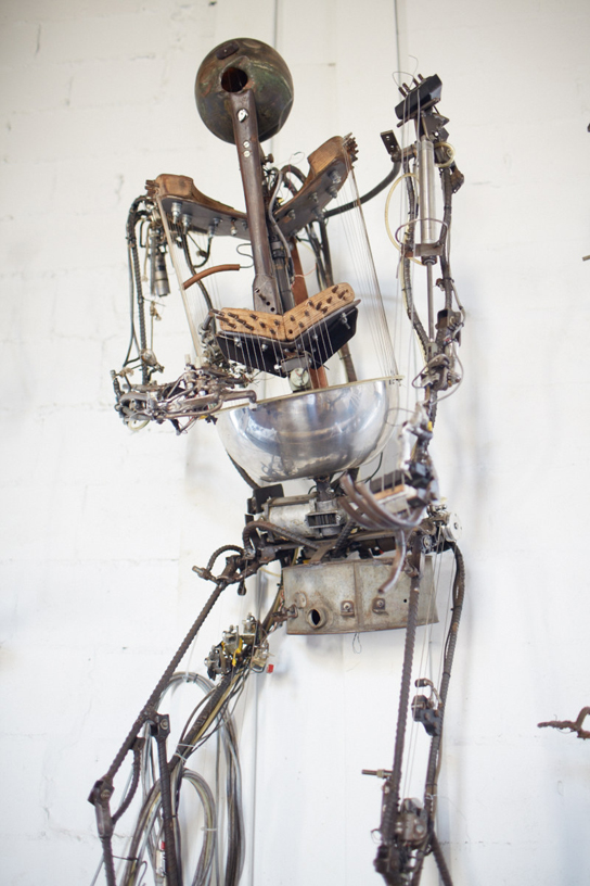 One of your future overlords from Chico MacMurtrie's Robotic Church at Pioneer Works. (Photo: Courtesy of the artist)