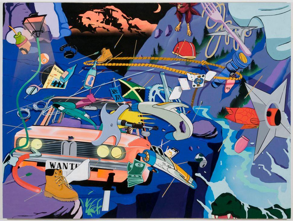 Jamian Juliano-Villani, Bounty Hunter, 2013 Acrylic on canvas 36 x 48 in (91.(Photo: Courtesy of Jamian Juliano-Villani)