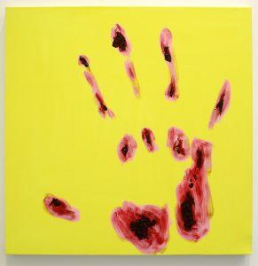 Thomas Lawson's Red Hand, 2015. (Photo: Courtesy of Klaus von Nischtgenarrd and the artist)