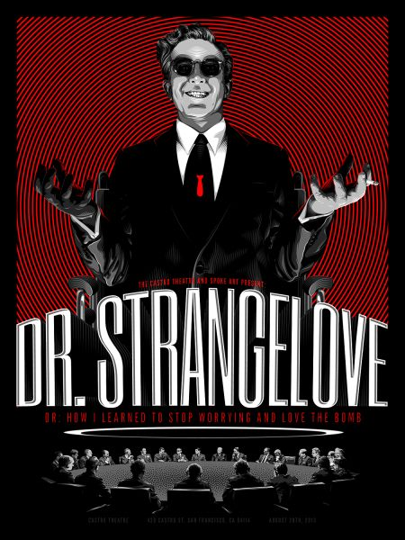 Dr. Strangelove by Tracie Ching, to be featured in Alternative Movie Posters II: More Film Art From the Underground. (Photo: Tracie Ching)